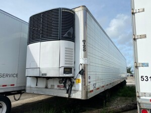 2006 UTILITY 3000R TRAILER WITH CARRIER REFRIGERATED UNIT - VIN #1UYVS25327U620513 - WHITE - 53' - ALUMINUM DOORS (LOCATED IN DAVIE, FL) (OT-R6-1959)
