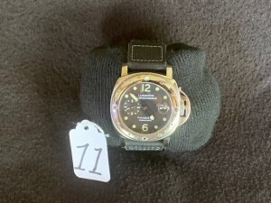 MEN'S PANERAI LUMINOR SUBMERSIBLE WATCH - STAINLESS STEEL FACE / CANVAS BAND - SERIAL No. BB986065