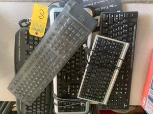 ASSORTED KEYBOARDS (WIRED / WIRELESS / PORTABLE) (LOCATED IN INMAN SC)