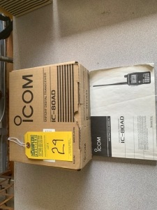 ICOM IC80AD VHF/UHF DIGITAL TRANSCEIVER (NEW IN BOX) (LOCATED IN INMAN SC)