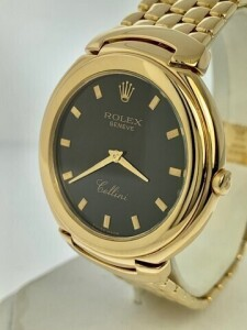 ROLEX 6623 UNISEX WATCH - 37MM - 18K YELLOW GOLD CASE - 18K YELLOW GOLD DAMIER BRACELET - BLACK JUBILEE DIAL WITH GOLD HOUR MARKERS / GOLD HOUR & MINUTE HANDS - 18K YELLOW GOLD FIXED BEZEL - SCRATCH RESISTANT SAPPHIRE CRYSTAL - QUARTZ MOVEMENT - FITS UP T