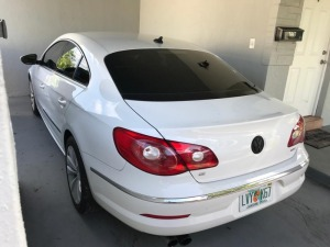 2011 VW CC LUXURY - WVWMN7AN8CE500677 - WHITE - 122,168 MILES ON ODOMETER (LOCATED IN DAVIE, FL)