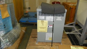 GE TRANSFORMER MOUNTED ON PALLET - 208V PRIMARY / 30KVA / 60HZ / 3 PHASE / 4.8% IMP / CATALOG #9T10A1412