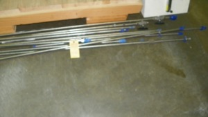 ASSORTED SIZE STAINLESS STEEL OXYGEN PIPING - 1/2''