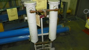 GETZ MFG IFS-2 DOUBLE CYLINDER TRANSFER PUMP ON CART