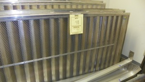 LOT LOUVERS WITH MOUNTING BEAMS & SUPPORTS - 3- 108x48 / 2- 108x53